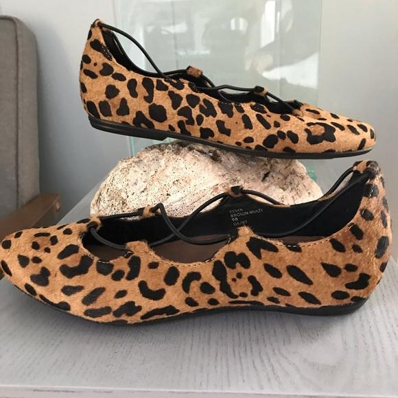21eb525585d4 Earthies Shoes | Leopard Essen Ghillie Ballet Flats | Poshmark